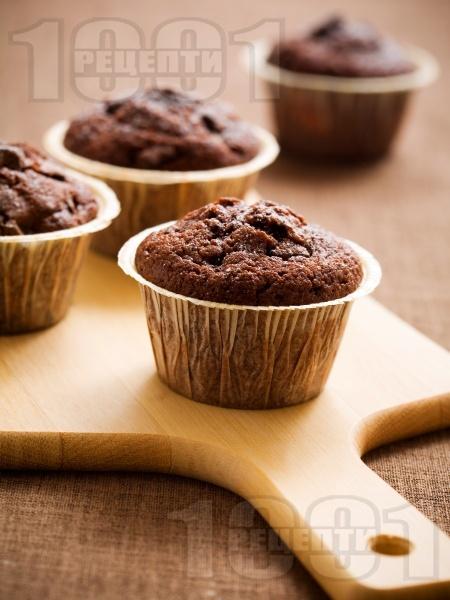 Какаови мъфини с много шоколад - снимка на рецептата